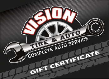 Gift Certificates | Vision Tire & Auto